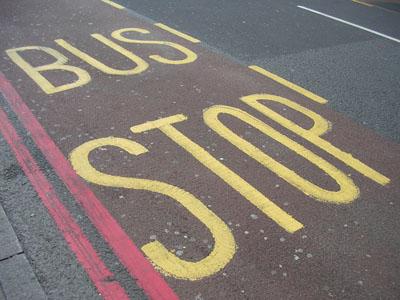 Bus stop London