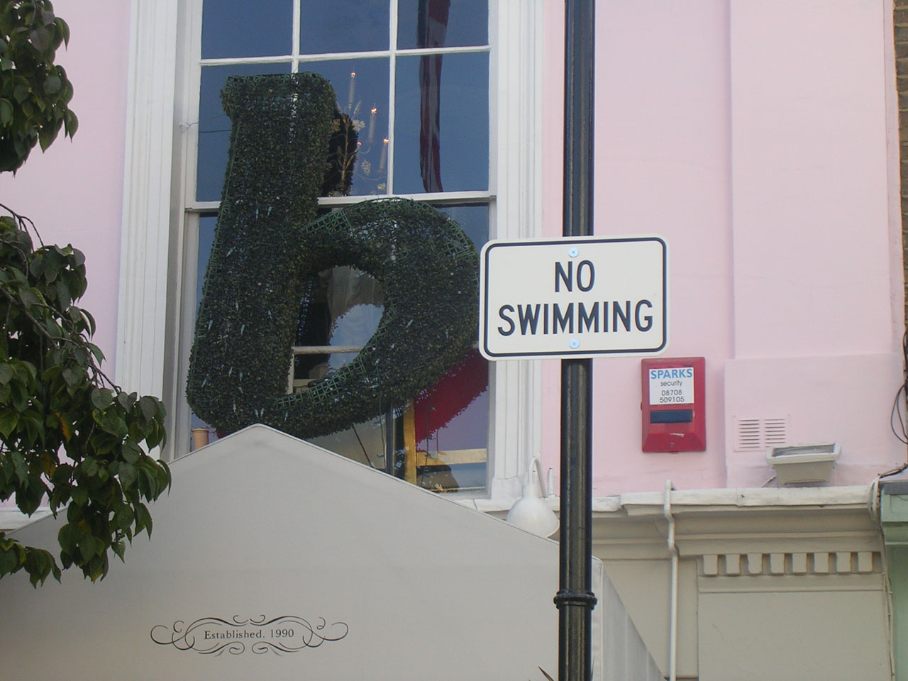 No swimming in the street of London