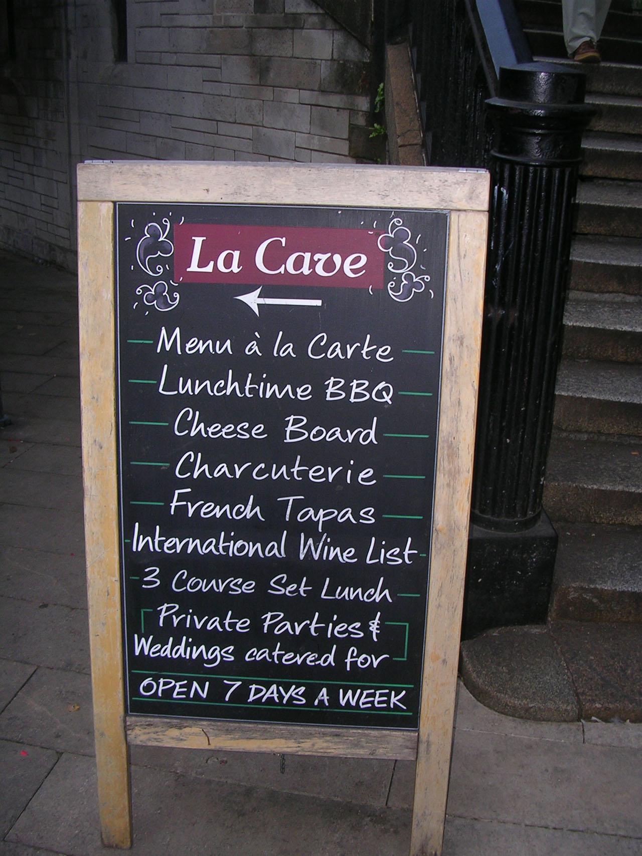 la cave restaurant London